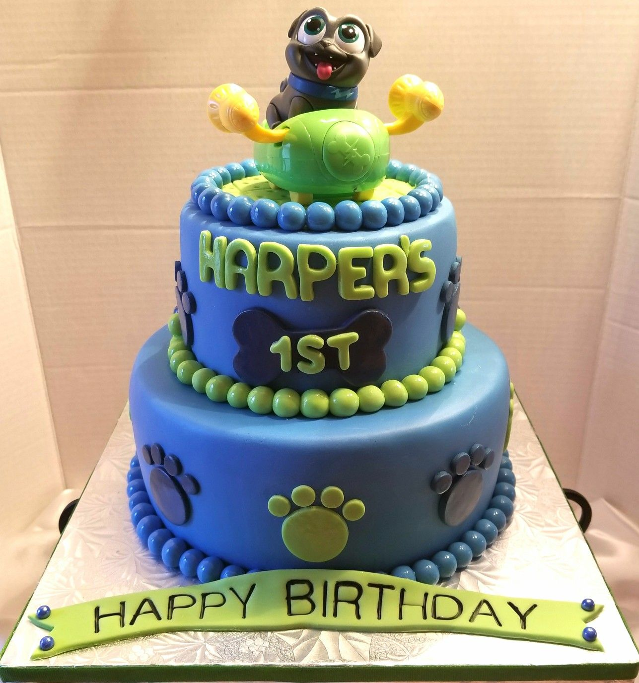 Puppy Dog Pals Themed 1st Birthday Cake Birthday Party Cake