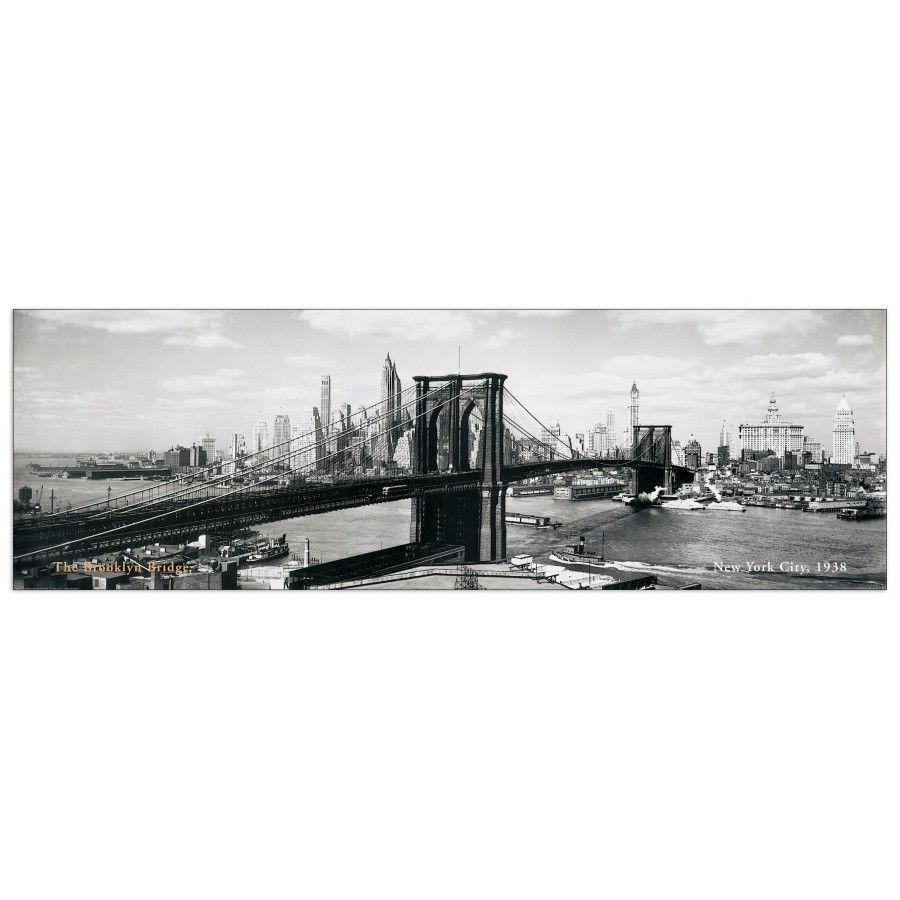 ANONYMOUS - The Brooklyn Bridge, NYC, 1938 138x45 / 100x33 cm cm #artprints #interior #design #Panorami #città #Landscapes #Brooklyn #Bridge Scopri Descrizione e Prezzo ---> http://www.artopweb.com/categorie/panorami-e-citta/EC14509