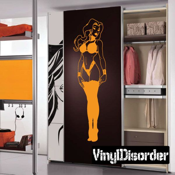 Sexy Girl Wall Decal - Vinyl Decal - Car Decal - CF12216