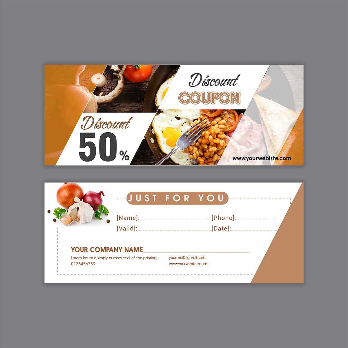 gift voucher food of restaurant | Identity Brand Graphic Design