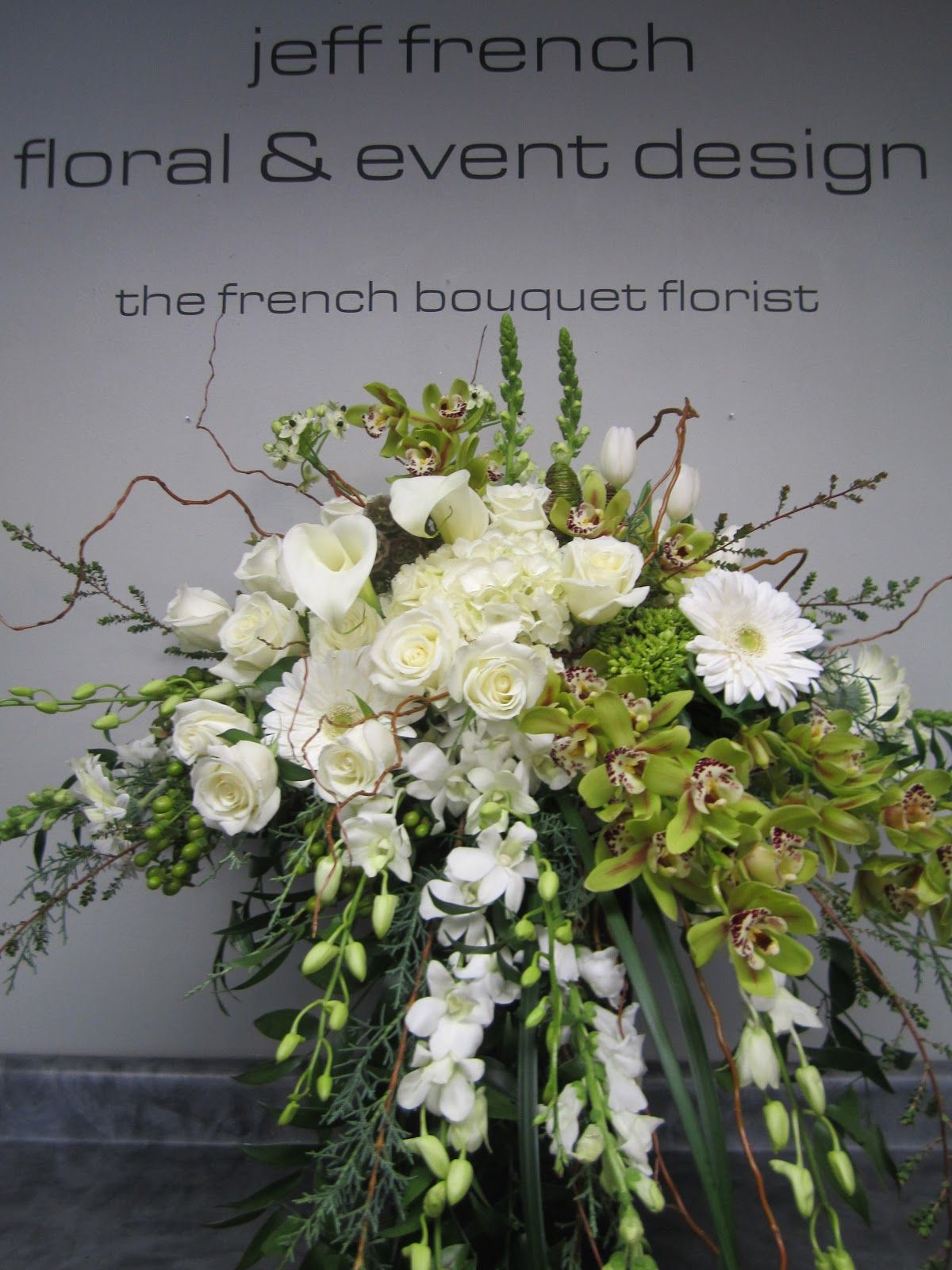 Funeral arrangement by jeff french floral and event design orchideen pinterest blumen - Orchideen arrangement ...