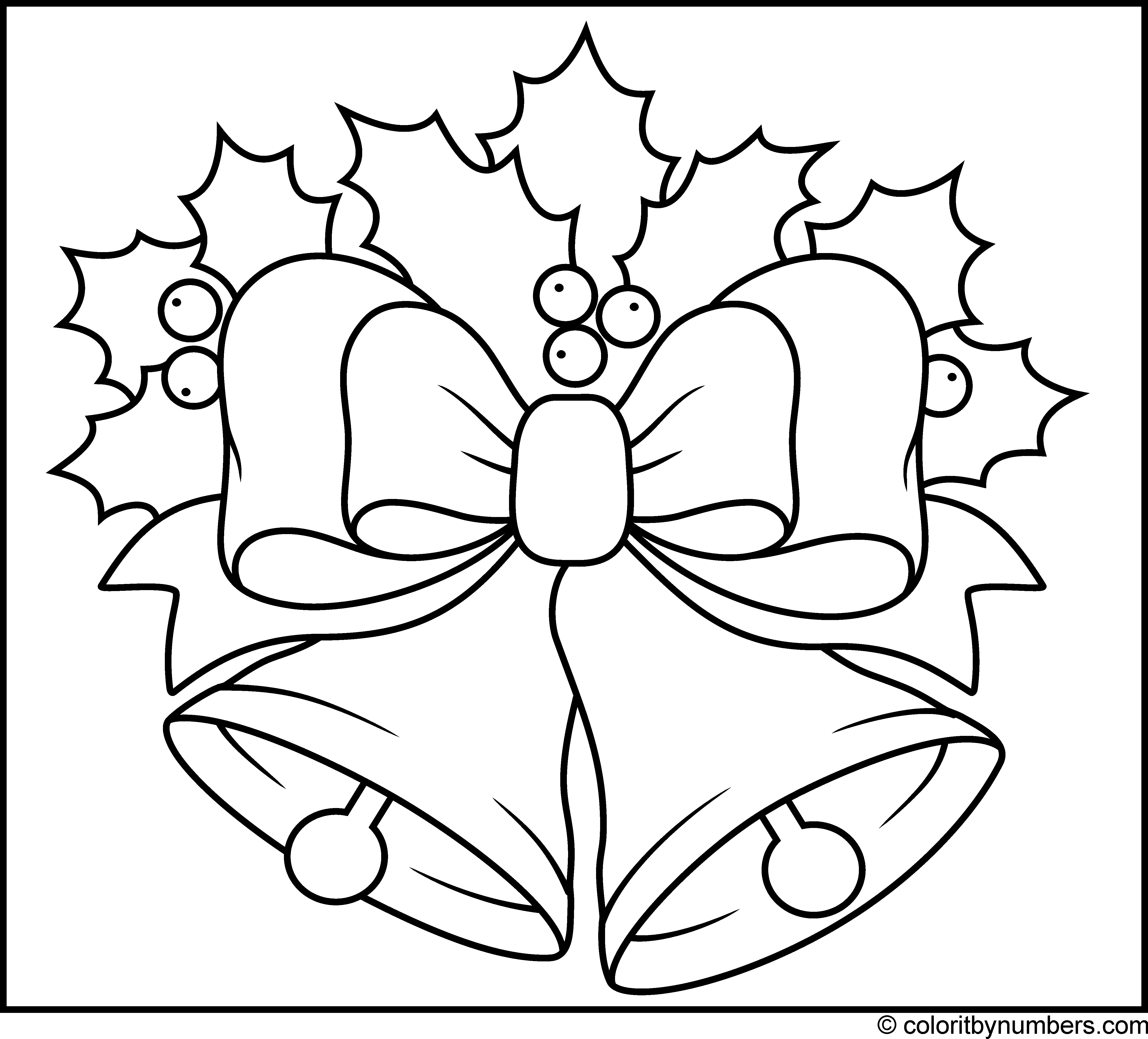 Christmas Bells Coloring Christmas Colors Coloring Pages Christmas Color By Number