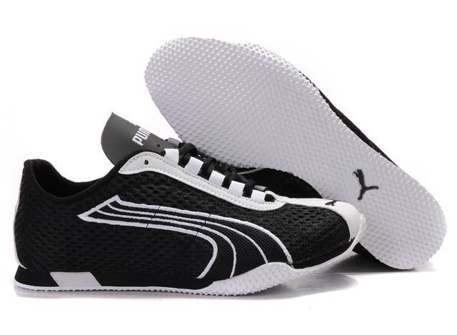 Sneakers puma H street   Cheap puma shoes, Black running