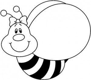 Bee Coloring Pages For Kids Preschool and Kindergarten Bees and