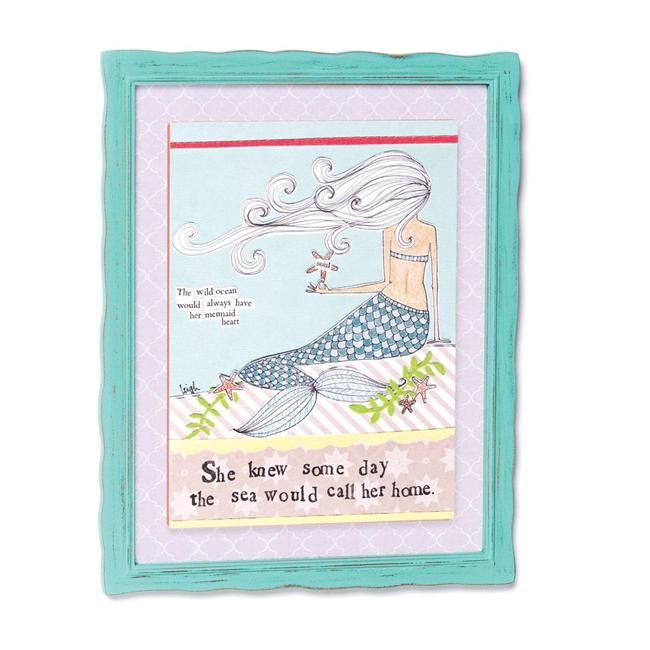 Demdaco Curly Girl Design Mermaid Wall Art - She knew some day the ...