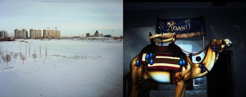 """Astana's winter urbanscape."" Photos by Ikuru Kuwajima, via nytimes lens blog."