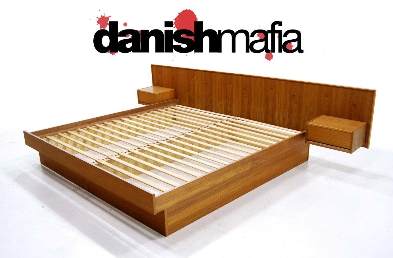 Best Mid Century Danish Modern Teak King Bed Nightstands King 400 x 300