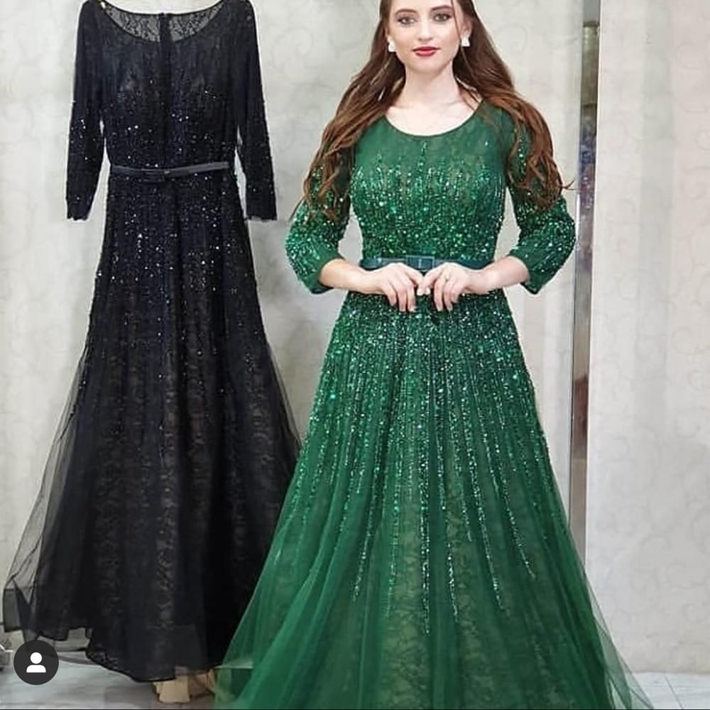 Green Beaded Prom Dresses Robe De Soiree Luxury Lace Elegant Vintage Prom Gown Vestido De Fiesta Beaded Prom Dress Prom Dresses Dresses [ 1000 x 1000 Pixel ]