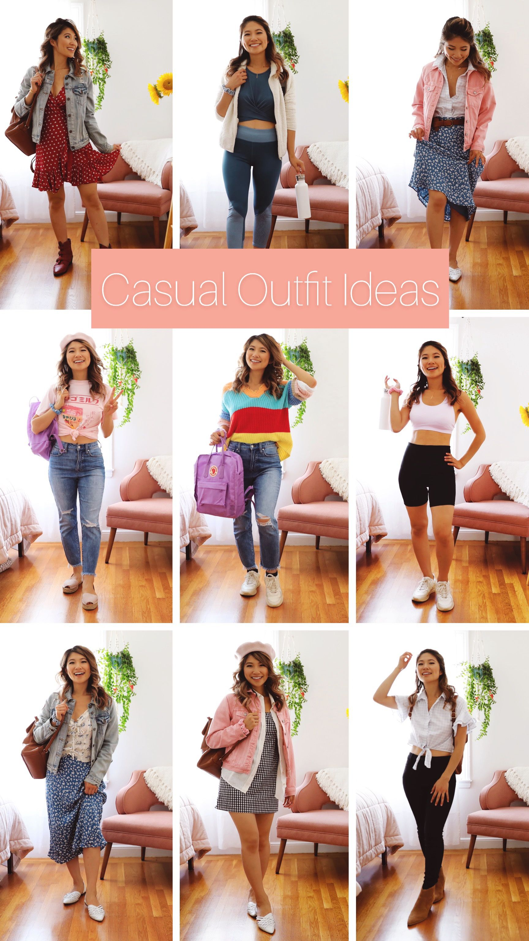 Comfortable outfit ideas for back to school. High School and