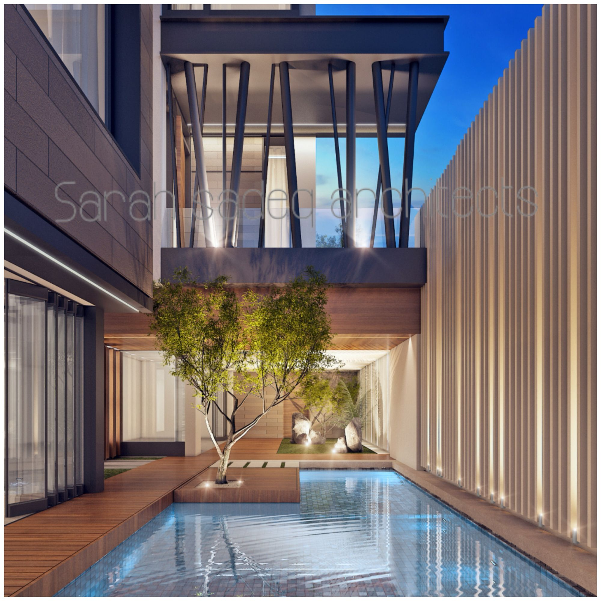 Private Villa Sarah Sadeq Architects Kuwait: Private Villa , Kuwait , By Sarah Sadeq Architects