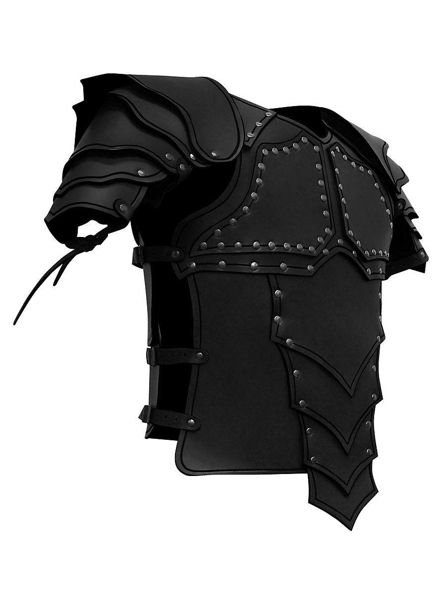 Lederrüstung Mit Schultern Drachenreiter Farbe Schwarz Schwarz Lederrüstung Drachenreiter Rüstung