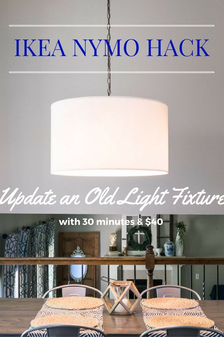 Ikea nymo hack diy light easy and lights easy diy light fixture update ikea nymo hack update an old light fixture arubaitofo Image collections