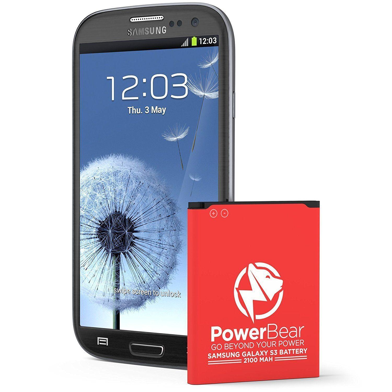 Powerbear Samsung Galaxy S3 Battery 2 100 Mah Li Ion Battery For The Galaxy S3 I9300 I9305 Lte Phone Accessories Iphone Samsung Battery Cell Phone Battery