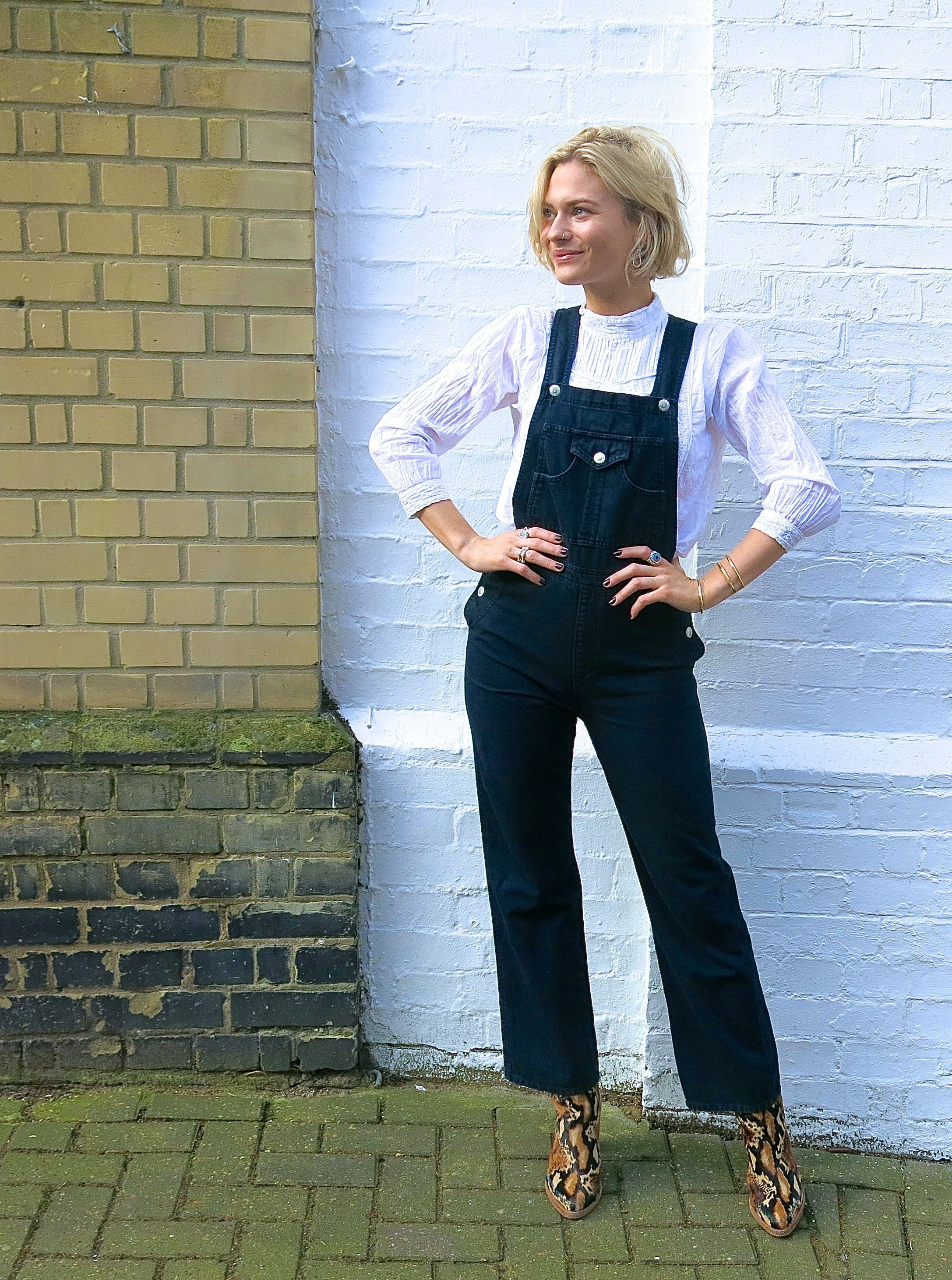 d0de11fdfa6  pinsykes   Pandora Sykes wearing The Tennessee Overall from the Alexa Chung  for AG collection  ACforAG