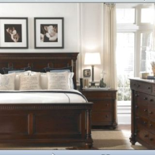White Walls With Dark Furniture Brown Furniture Bedroom Traditional Bedroom Design Traditional Bedroom