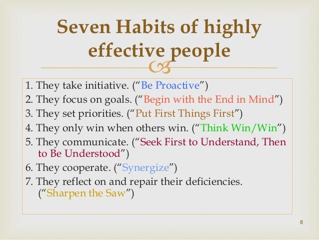 Book Review Of Seven Habits Of Highly Effective People With