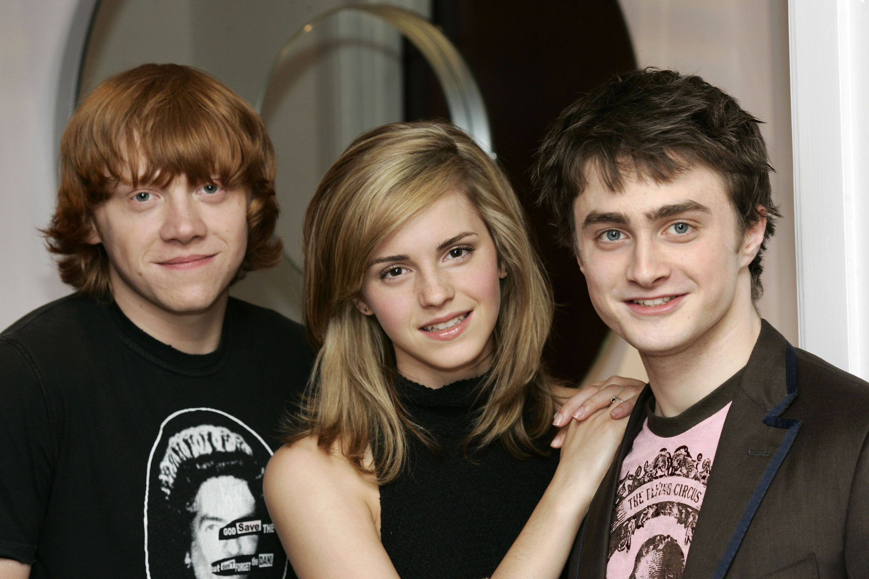 Weasly Granger And Potter Harry Potter Cast Daniel Radcliffe Emma Watson Harry Potter Movies