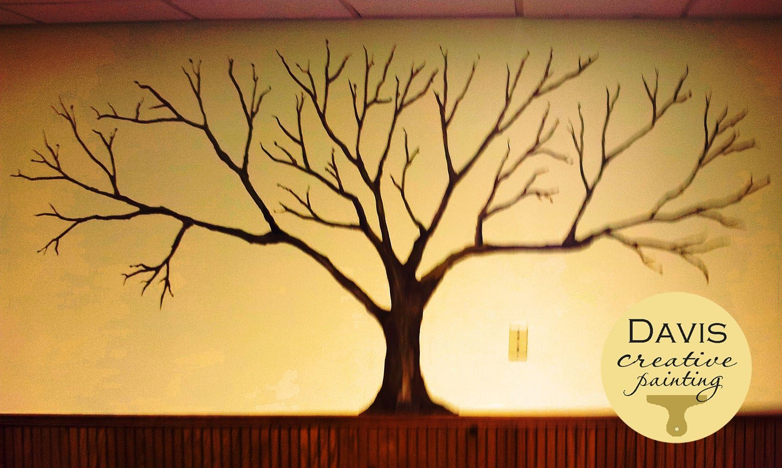 family tree picture on wall   Davis Creative Painting: \