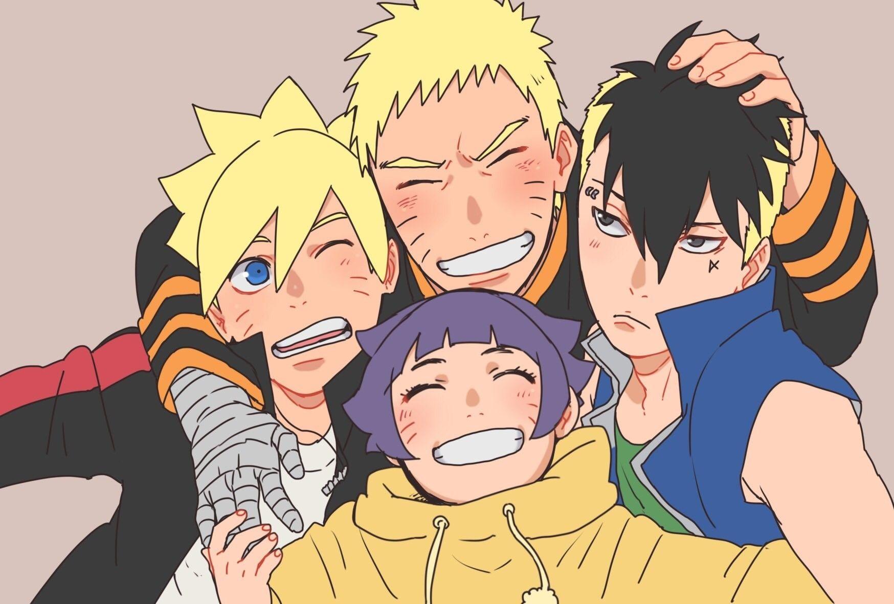 Naruto Himawari Boruto Kawaki Naruto Himawari Naruto Shippuden Anime Naruto Shippuden Sasuke