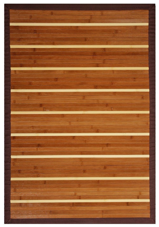 Bamboo Rectangle Teak Color Anji Mountain Premier Collection