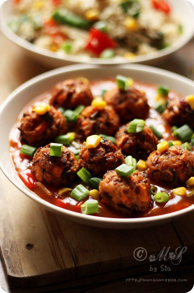 Veg manchurian or vegetable manchurian recipe gravy vegetarian veg manchurian or vegetable manchurian recipe forumfinder Gallery