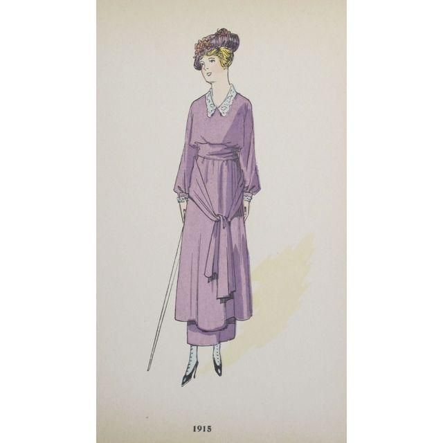 Image of Original 1915 French Fashion Plates - Set of 4
