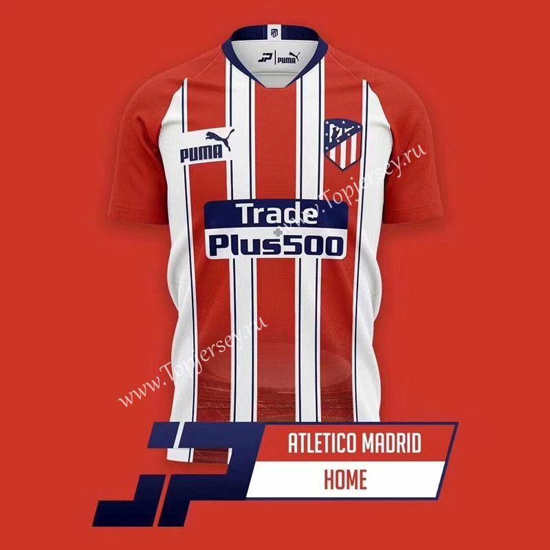 Atlético de Madrid Printed T Shirt Tee Top Red Football Boys