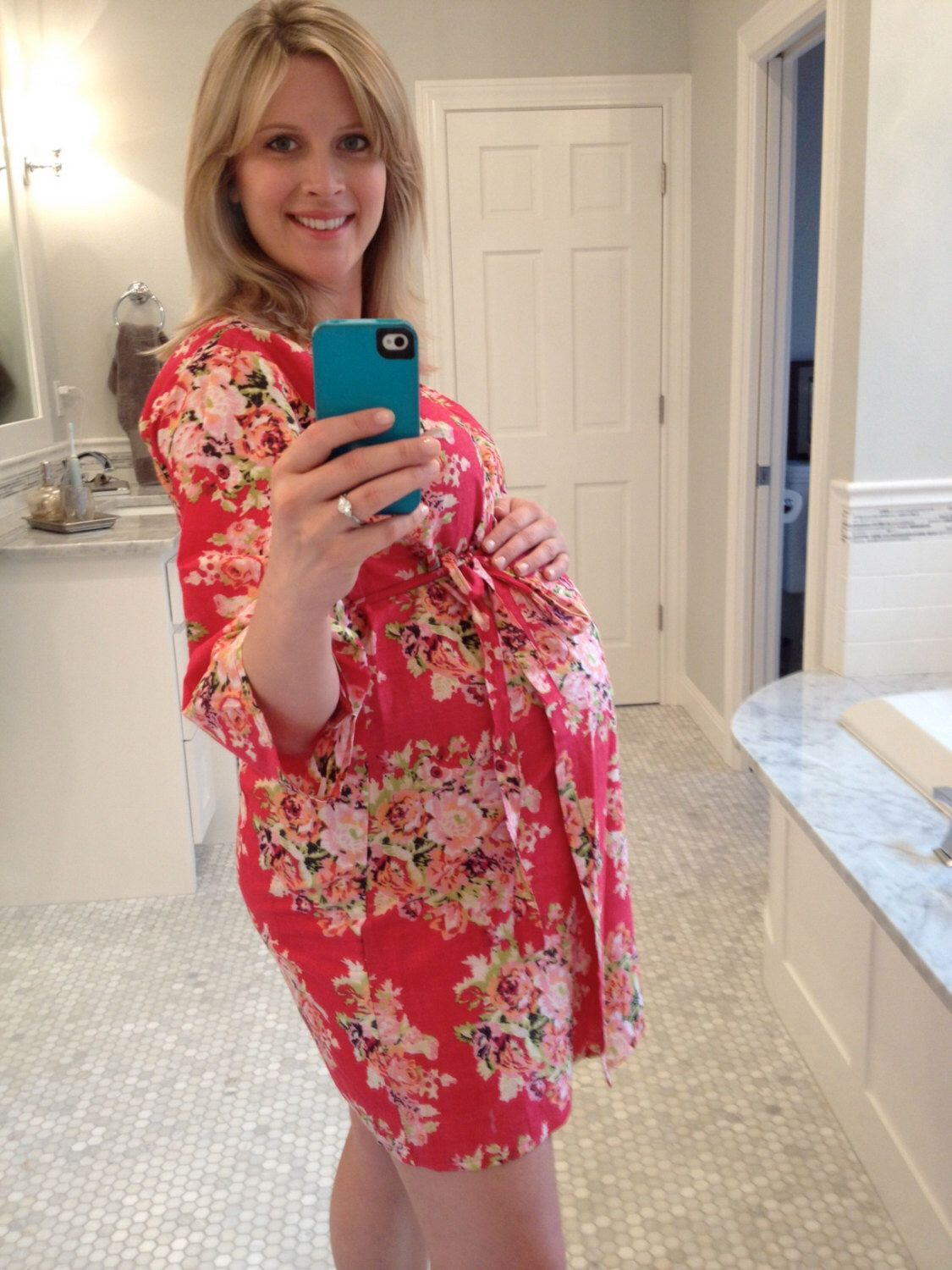 Maternity Hospital Gown Delivery Robe - Red - Perfect as labor ...