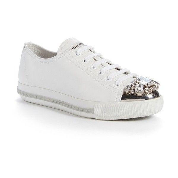 pretty cool online shop best place Women's Miu Miu Platform Sneaker (€800) ❤ liked on Polyvore ...