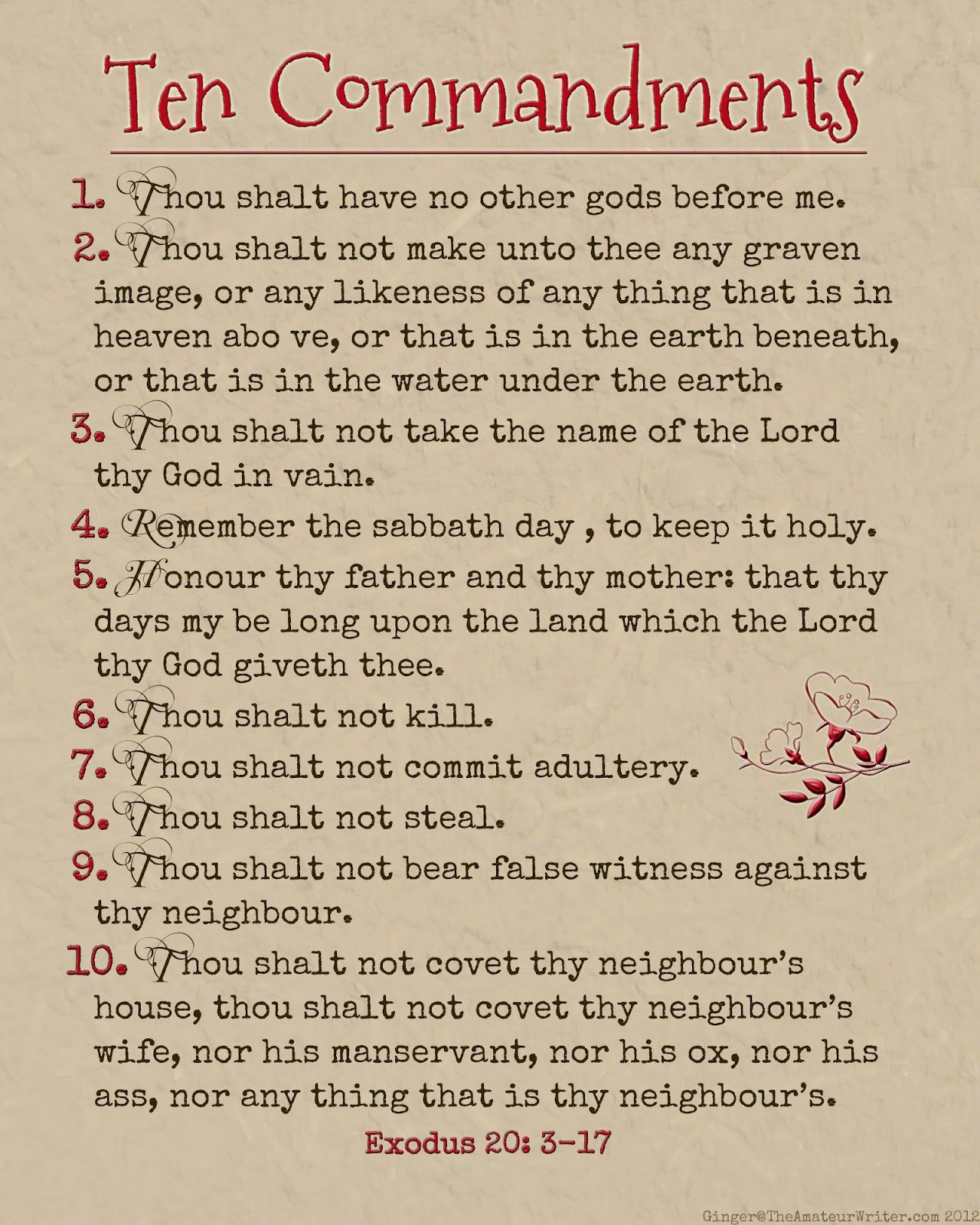Ambitious image throughout the ten commandments printable
