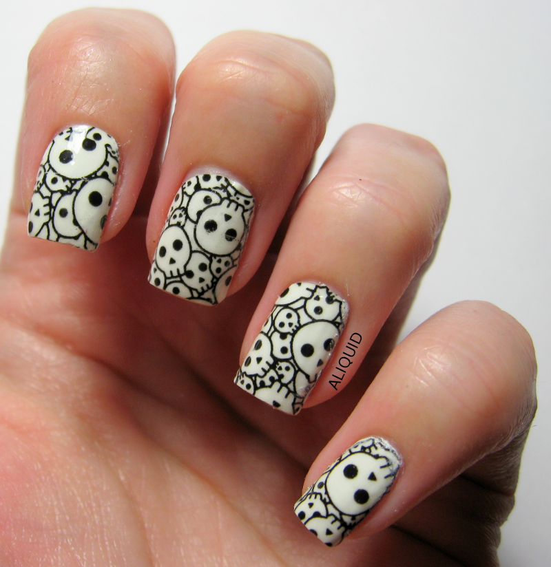 Swatch: Incoco Bone Rattling nail polish appliques   My Swatches ...