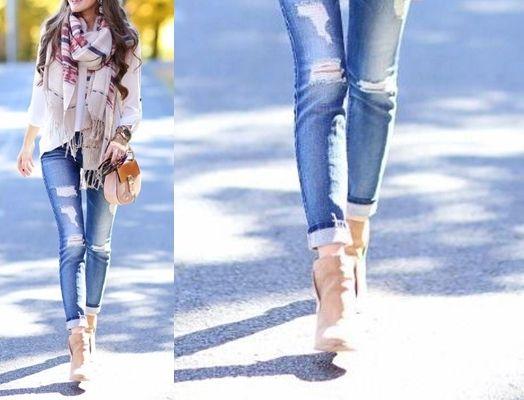 ca3d7f6f55 Cómo combinar correctamente botines y jeans
