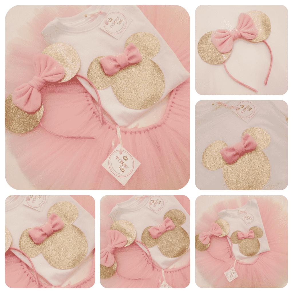 3012aff99 Minnie Dorado nenas - Comprar en Princess tutu Cumpleaños Rosa