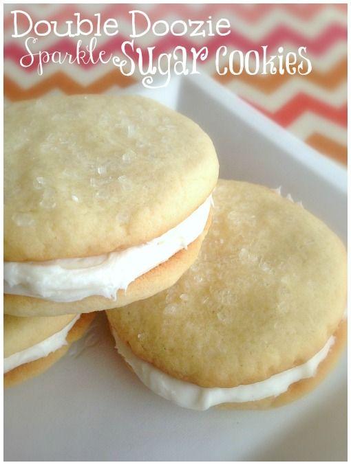 Double Doozie Sparkle Sugar Cookies Princess Party Cookies