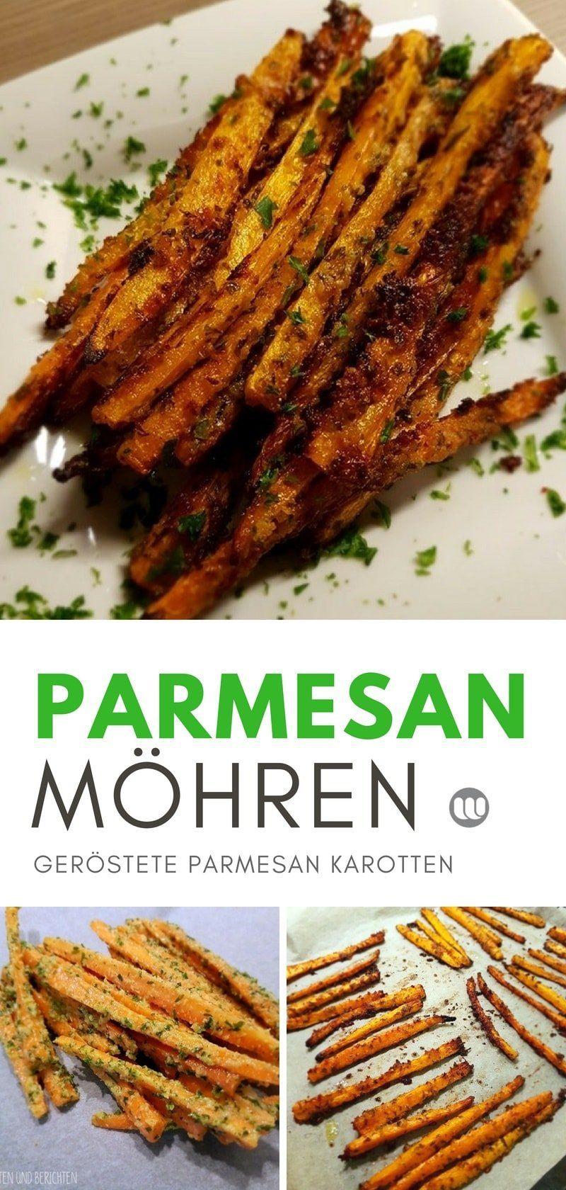 Rezept: Geröstete Parmesan Karottensticks, Möhrensticks