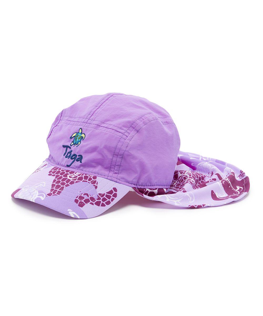 Tuga Sunwear Turtle Purple Flap Hat - Infant d95d837cabab