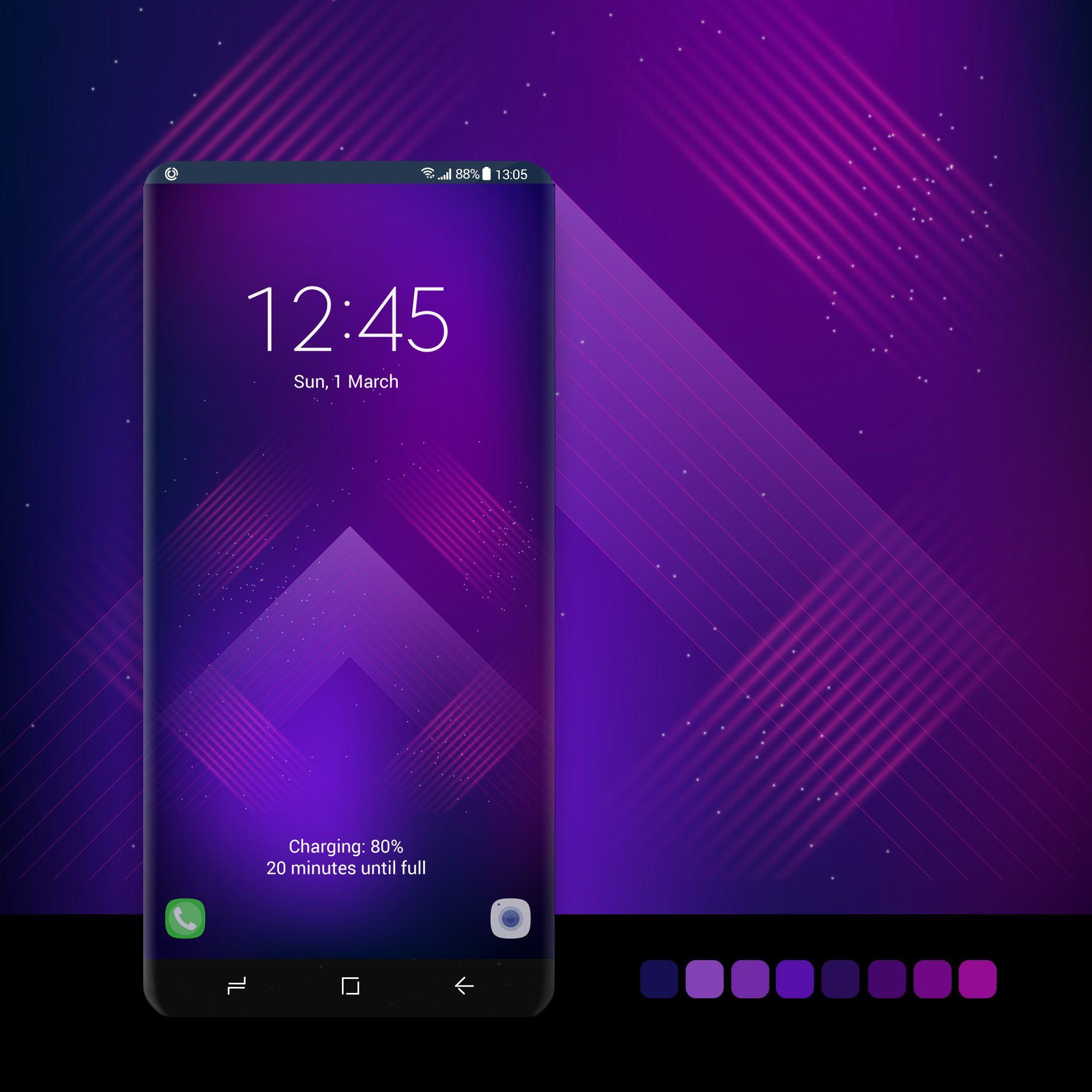 Purple Squares Samsung Galaxy Wallpaper Galaxy Galaxy Wallpaper