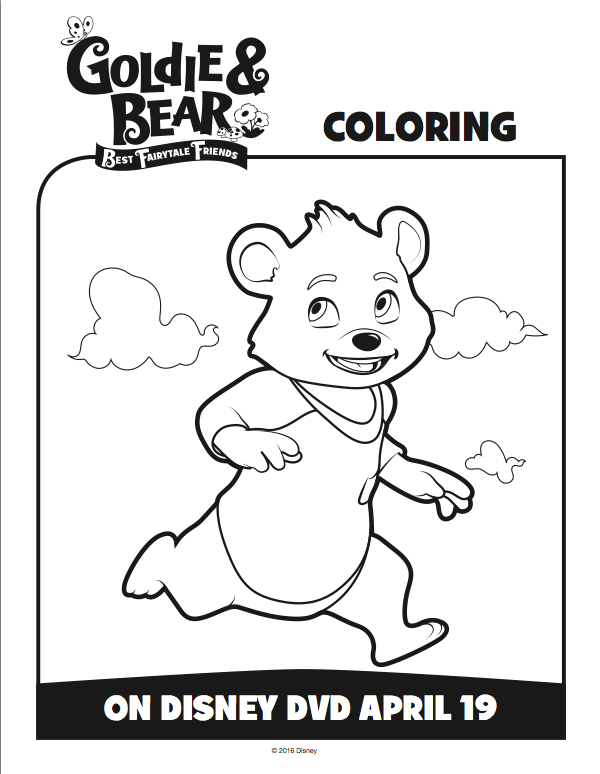 Goldie and Bear Coloring pages 3 Coloring Pages Pinterest