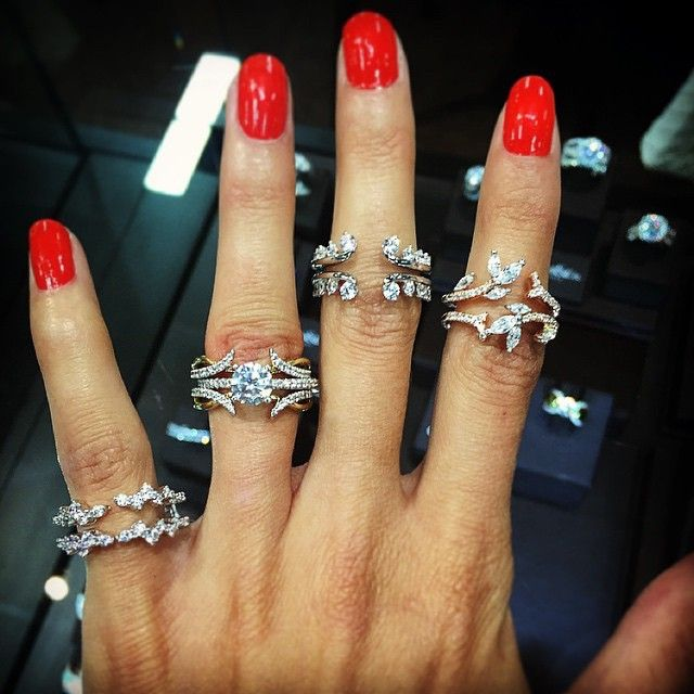 add some whimsy or update your engagement ring with a pretty diamond ring jacket - Wedding Ring Jackets