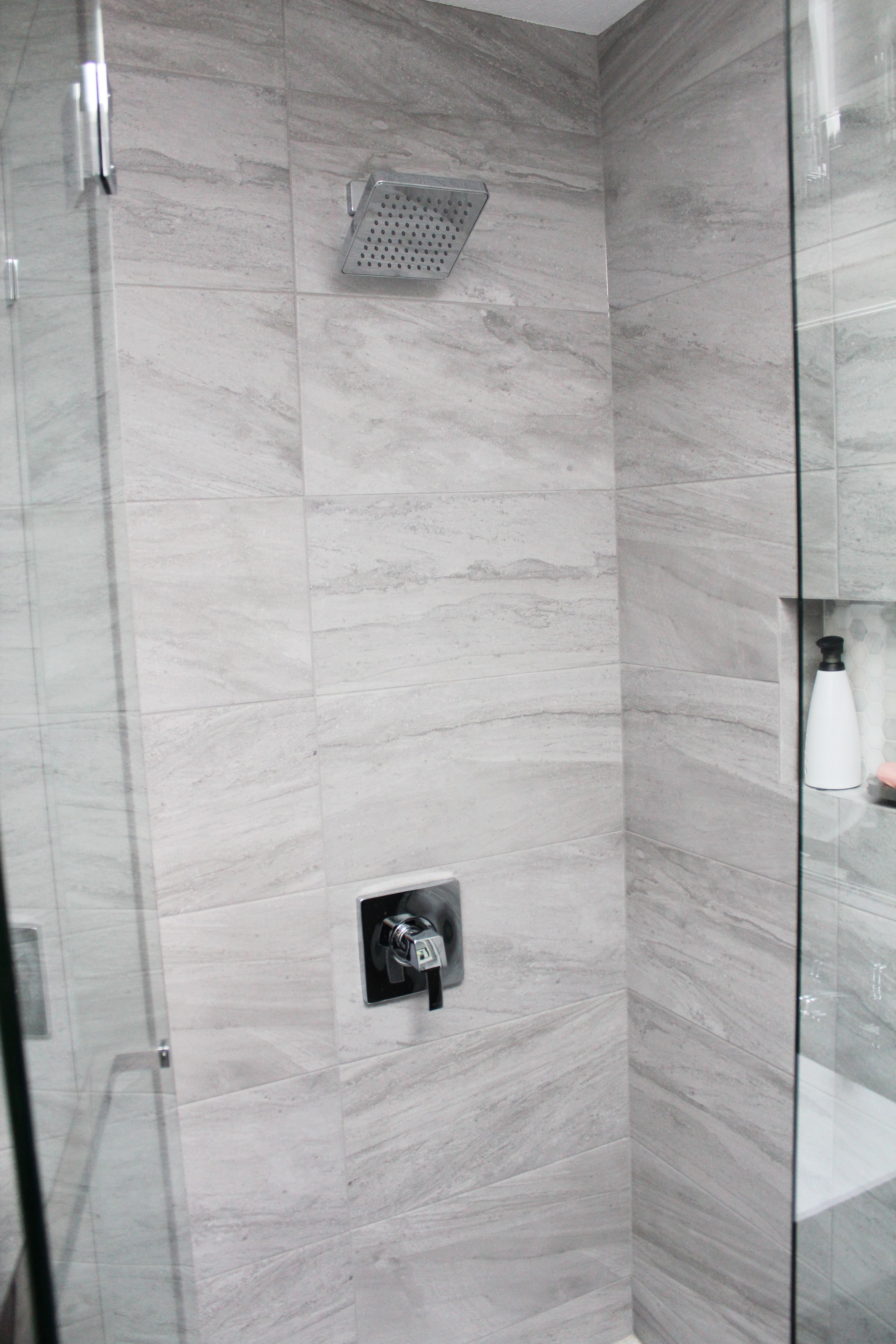Tagged with tiles | Bathroom | Pinterest | Neo angle shower, Custom ...