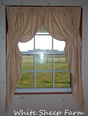 White Sheep Farm Primitive Prairie Curtain Tutorial My Way