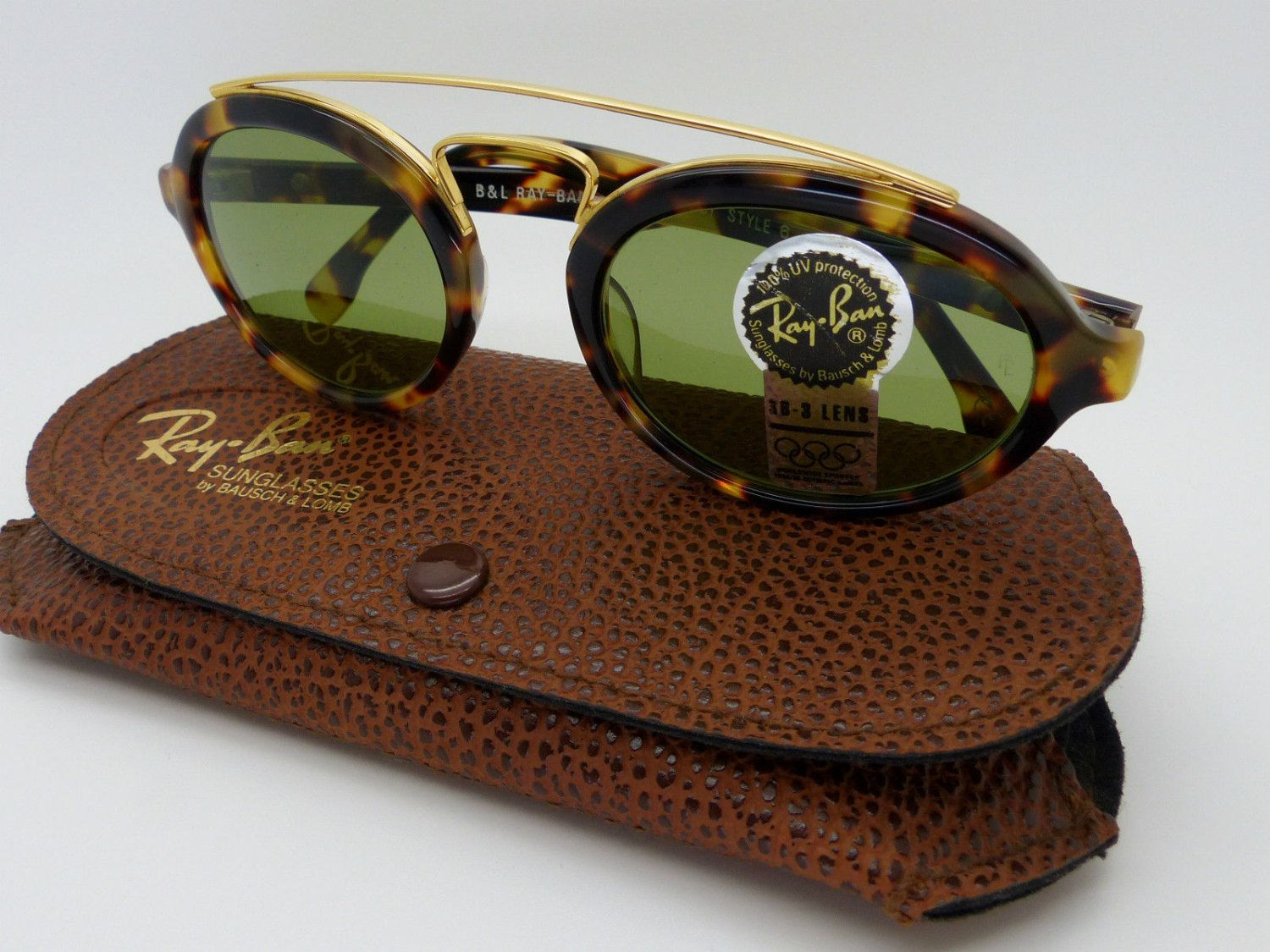 ray ban sunglasses made in usa  Vintage Ray Ban Gatsby Style 6 W1522 B\u0026L Original Sunglasses made ...