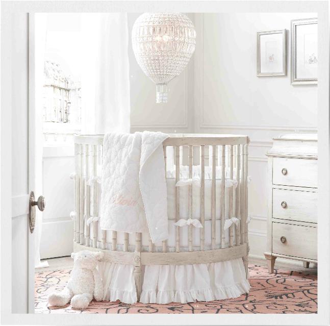 round crib- Restoration Hardware | Nursery | Round baby ...