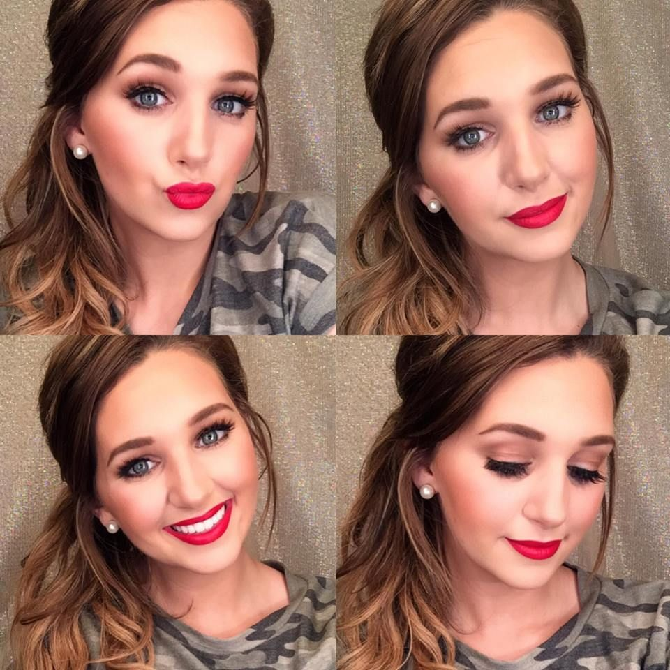 Red Lips Teen Makeup Looks Perfect Mascara Long Lasting Creamy Lipstick Teen Cosmetics