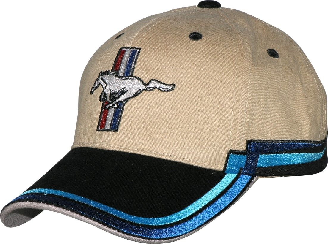 Mustang and logo on a new Tan Blue ball cap w tags  Mustang and logo on a  new tan and blue ball cap with tags. Only 2 left. 40d3ddea0901