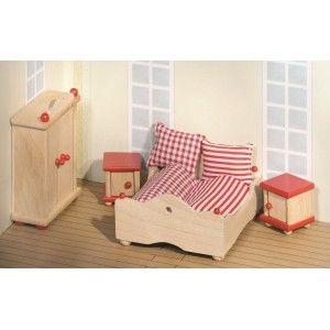gezien op beslist.nl: goki - houten poppenhuis meubels, Deco ideeën