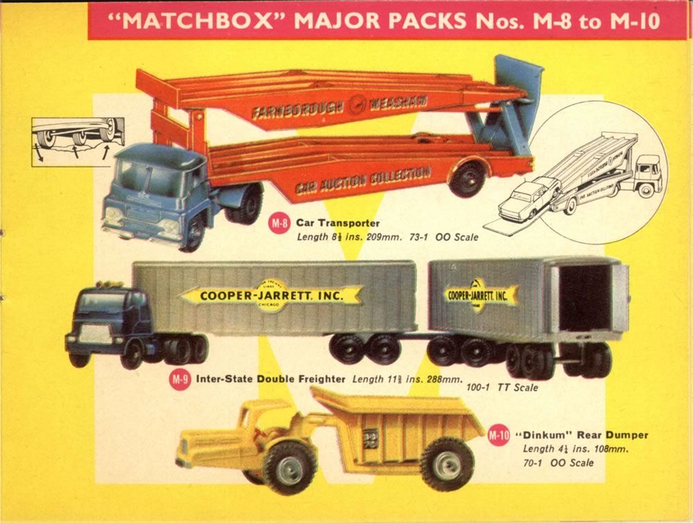 Matchbox Lesney 1965 catalog Majors M8 Car Transporter