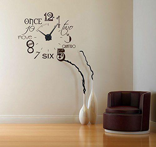 Wandtattoo Uhr Wanduhr Zahlen international modern NEU (Uhr - wanduhren modern