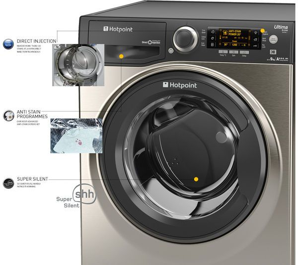 HOTPOINT Ultima S-line RPD9467JGG Washing Machine ...