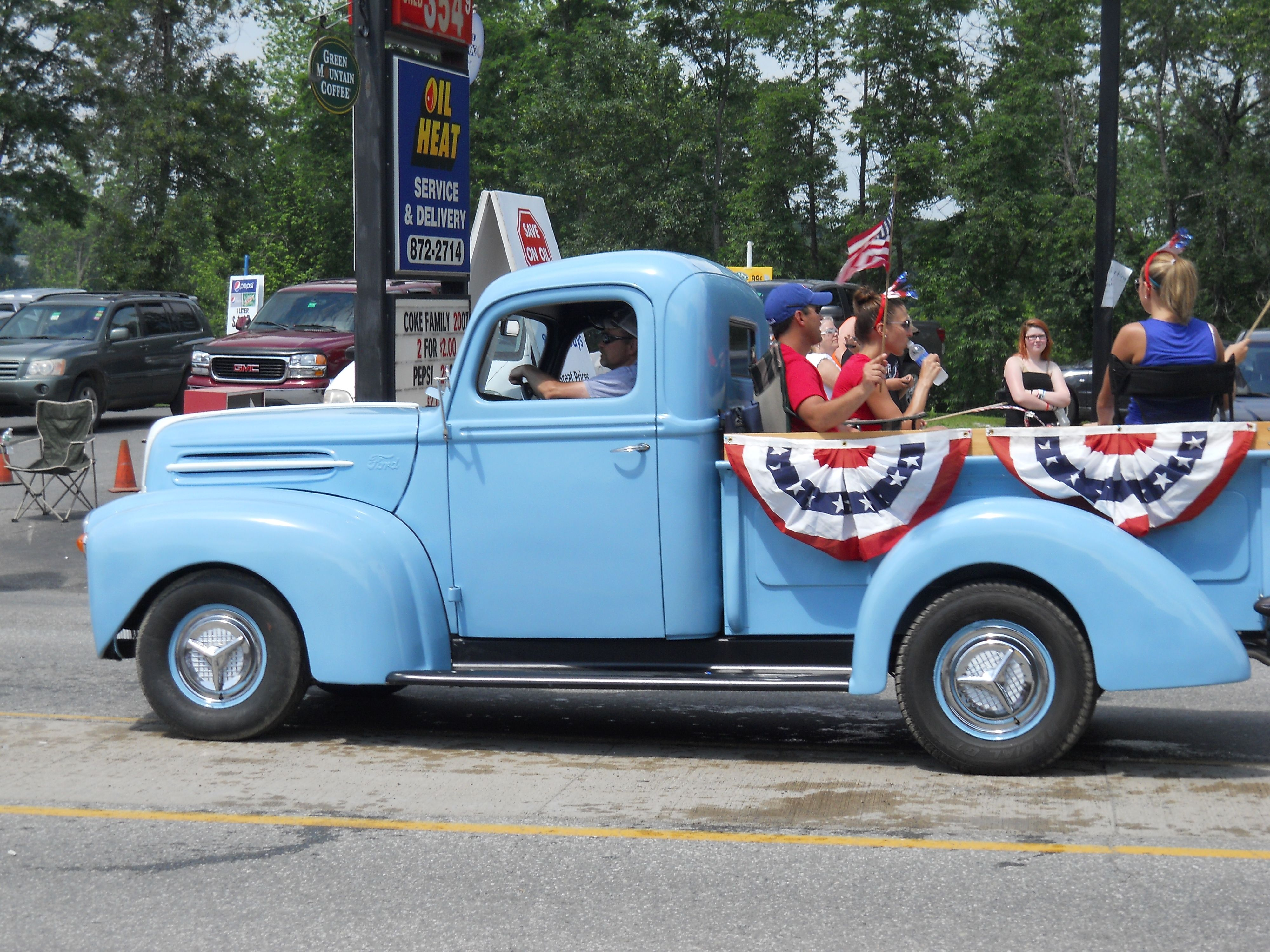 Baby Blue Antique Truck In Parade Https Www Youtube Com User